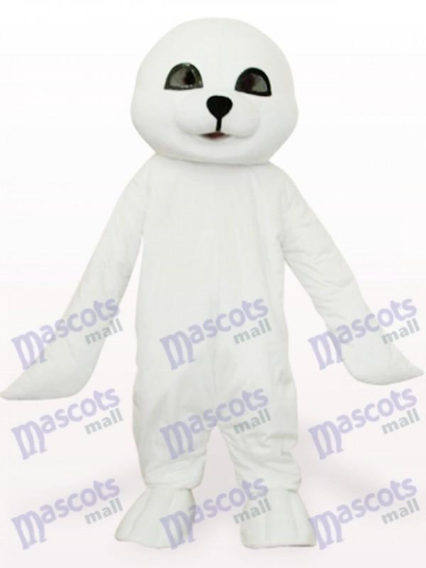 Lovely White Seal Ocean Adult Mascot Costume