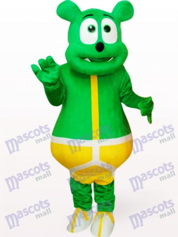 Green Bear Monster Plush Mascot Costume