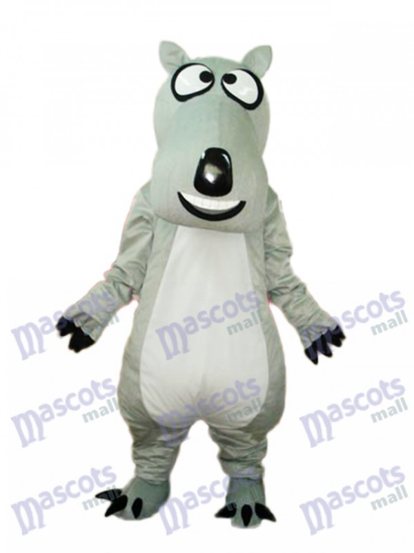 Grey Bear Luck Mascot Adult Costume Animal