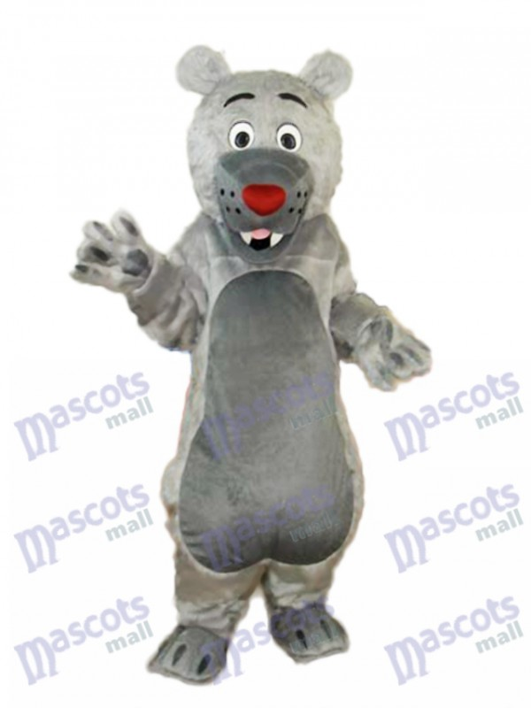 Gray Mouth Bear Mascot Adult Costume