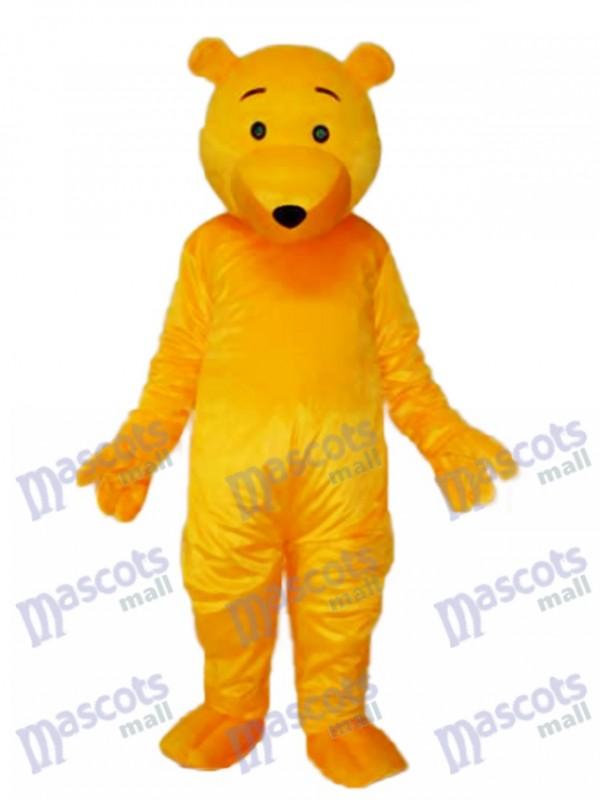Yellow Bear Mascot Adult Costume