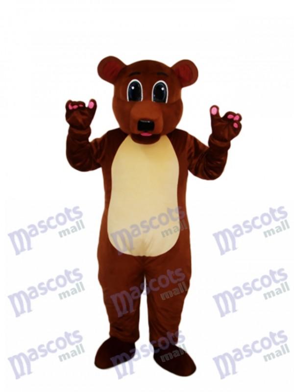 Golden Brown Bear Mascot Adult Costume