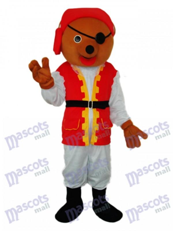 Pirate Bear Mascot Adult Costume
