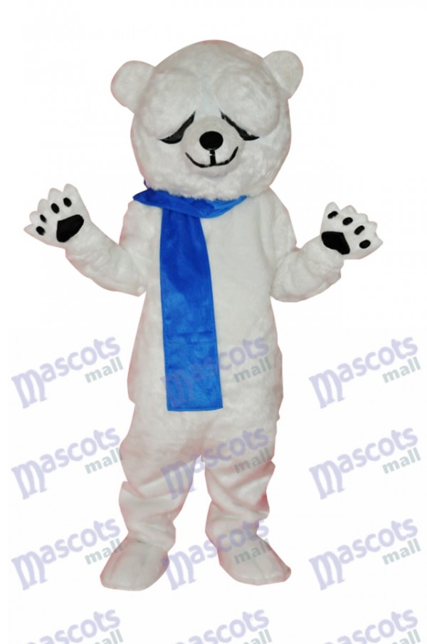 Teddy Bear in Blue Overalls Mascot Adult Costume