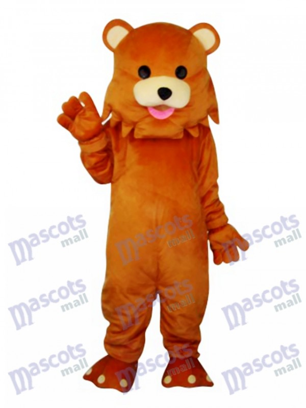 Bear with Strange Mouth Mascot Adult Costume