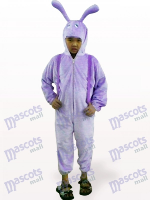 Purple Snail Open Face Kids Insect Mascot Costume