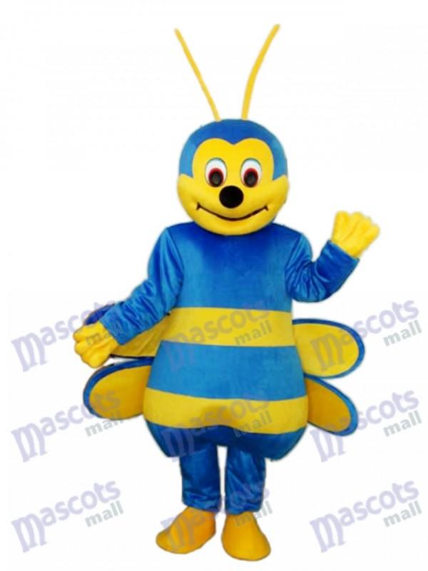 Blue Bee Mascot Adult Costume