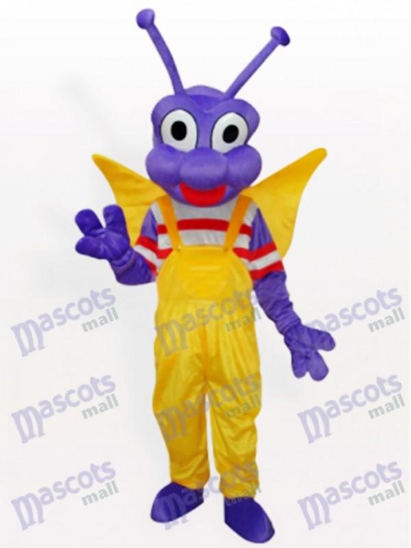 Purple BEE Bo Dudu Adult Mascot Costume