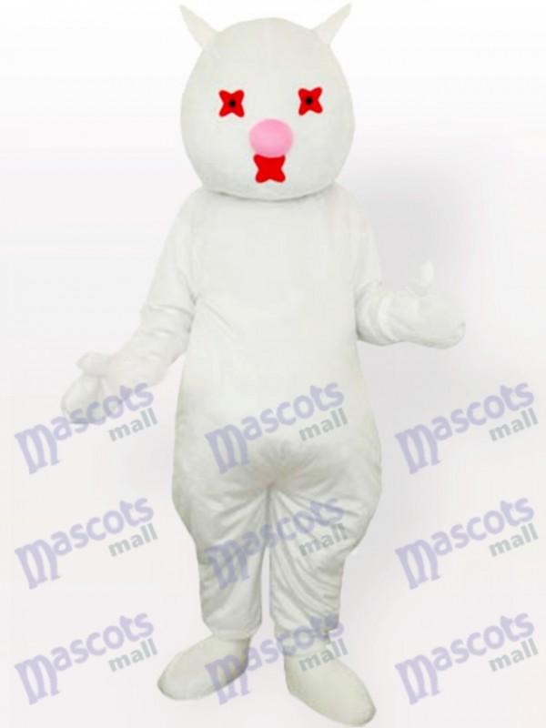 White Cat Adult Mascot Costume