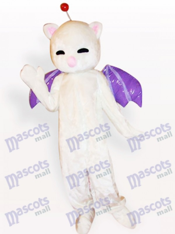Pink Nose White Cat Animal Adult Mascot Costume