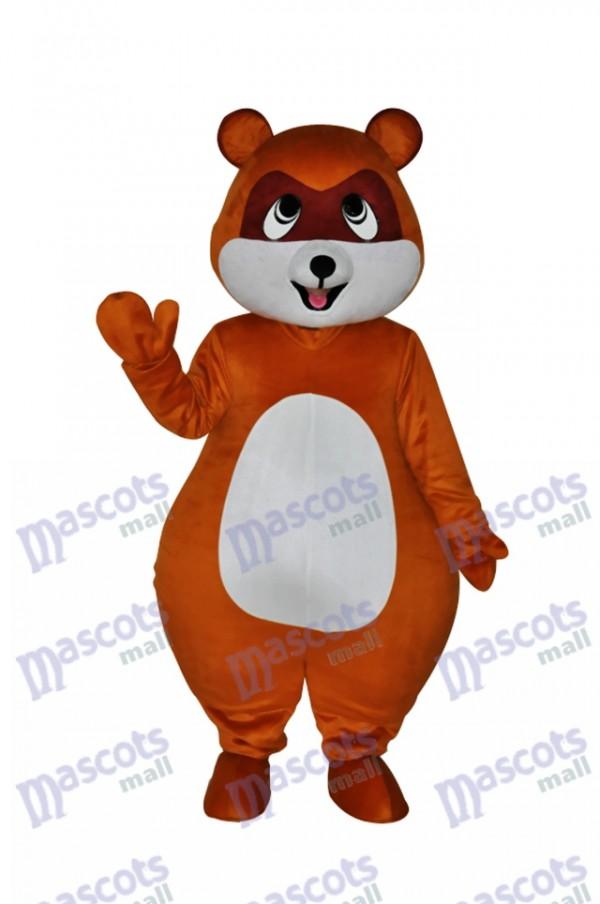 Yellow Brown Civet Cat Mascot Costume