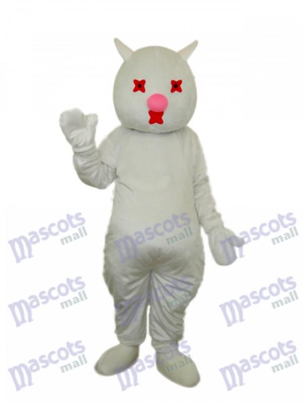 White Cat Mascot Adult Costume