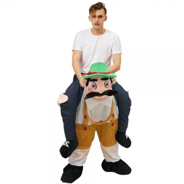 Bavarian Oktoberfest Beer Man Carry me Ride on Halloween Christmas Costume for Adult/Kid