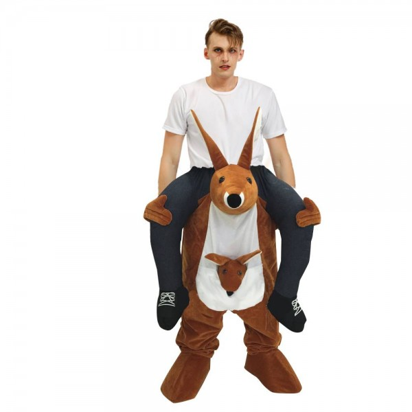 Brown Kangaroo Carry me Ride on Fancy Dress Costume for Adult/Kid