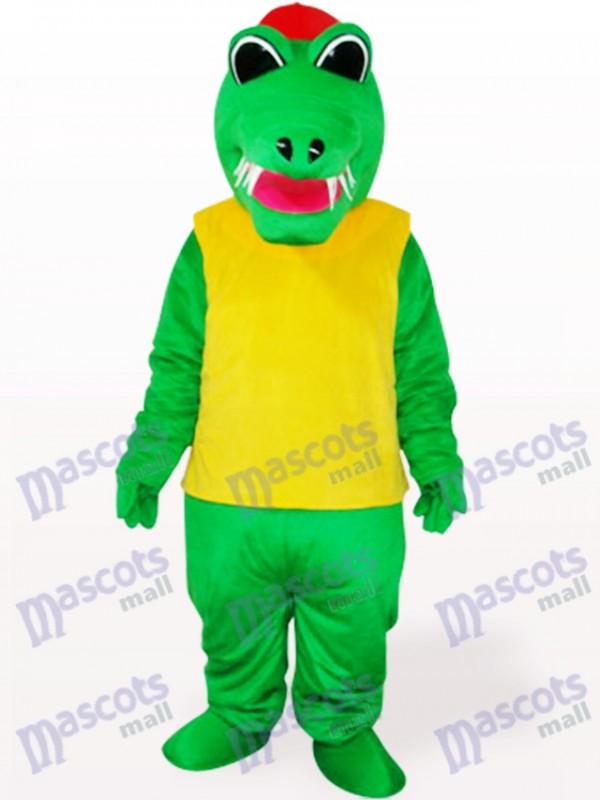 Africa Green And Yellow Crocodile Animal Adult Mascot Costume