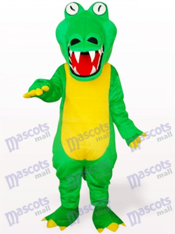 Green Crocodile With Big Mouth Animal Adult Mascot Costume