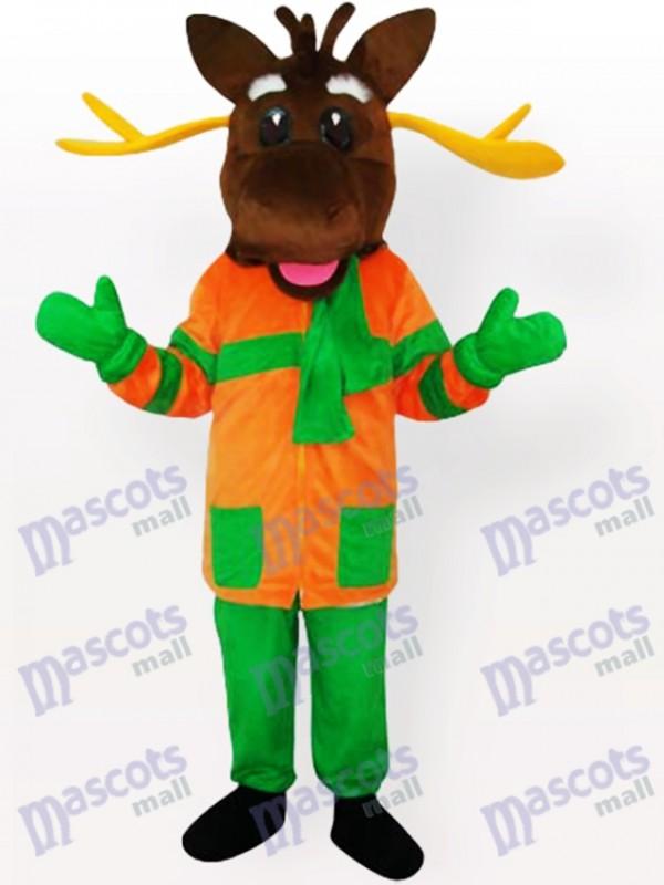 Merry Moose Mascot Adult Costume