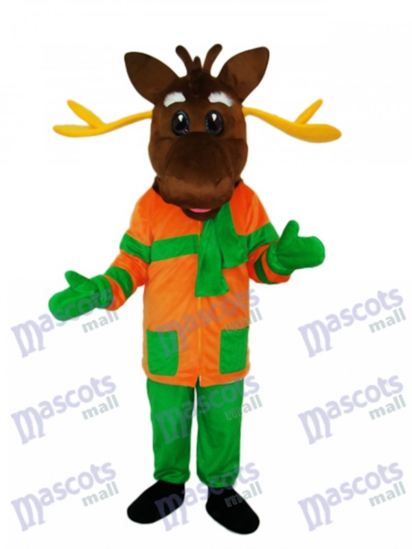 Christmas Deer Mascot Adult Costume