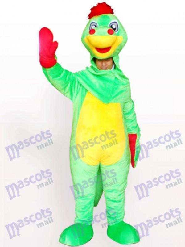 Open Face Dinosaur Adult Mascot Costume