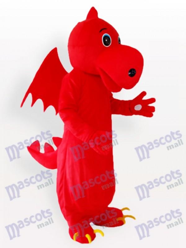 Red Stegosaurus Adult Mascot Costume