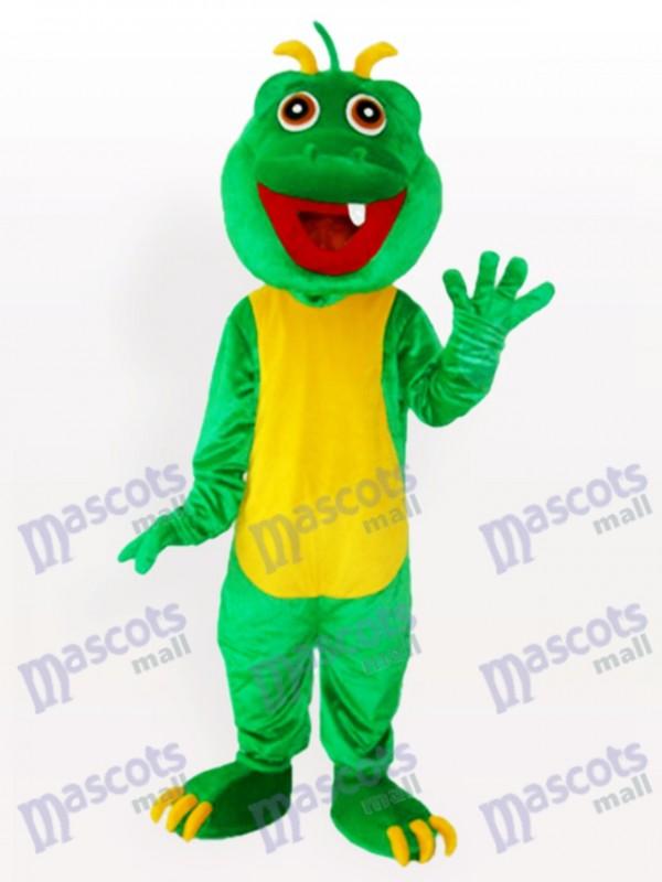 One teeth Green Dinosaur Adult Mascot Costume