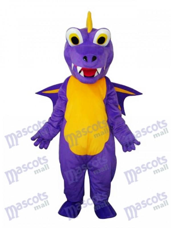 Long Thorn Purple Dinosaur Mascot Adult Costume
