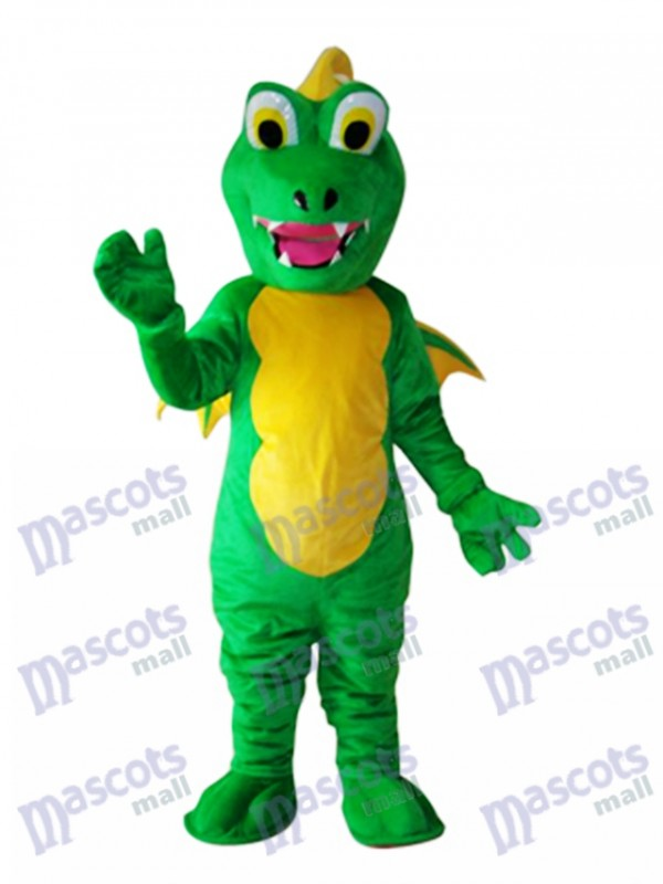 Big Mouth Thorn Green Dinosaur Mascot Adult Costume