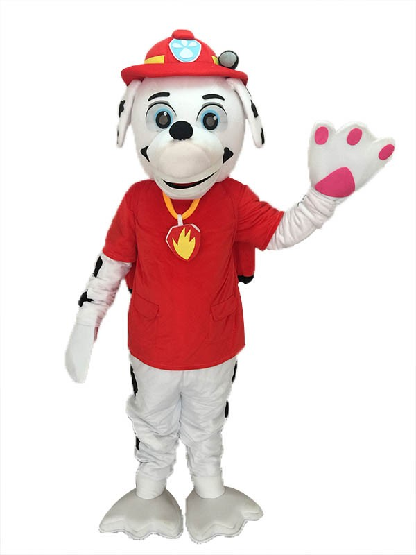 High Quality Adult Realistic New Paw Patrol Marshall Dalmatian Puppy Fire Dog Mascot Costume Pups Save Jake