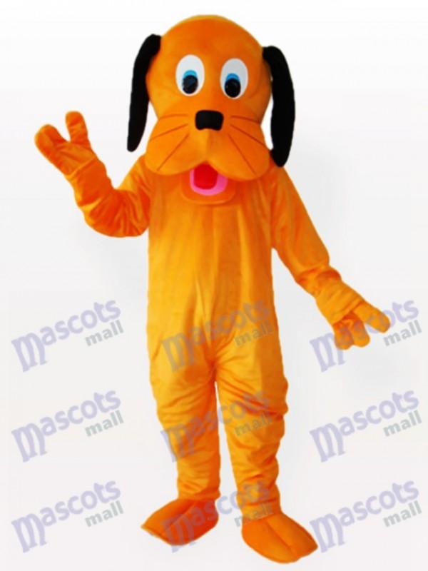Black Ears Orange Dog Adult Mascot Funny Costume