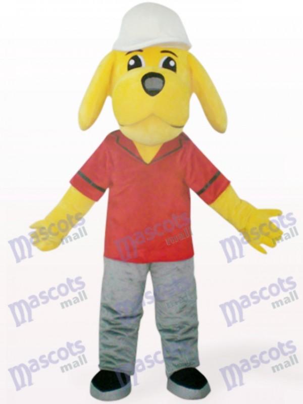 Yellow Naught Dog Animal Mascot Costume
