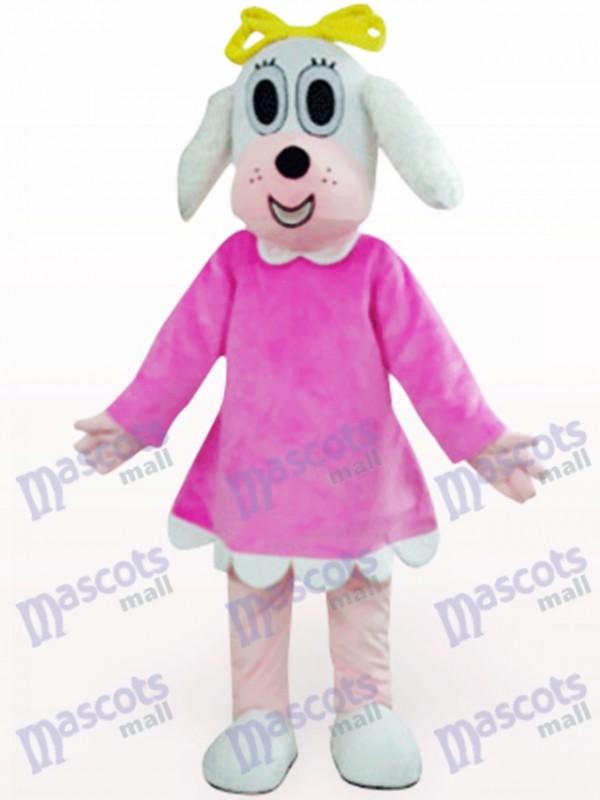 Female Dog In Fuchsia Clothes Animal Mascot Costume