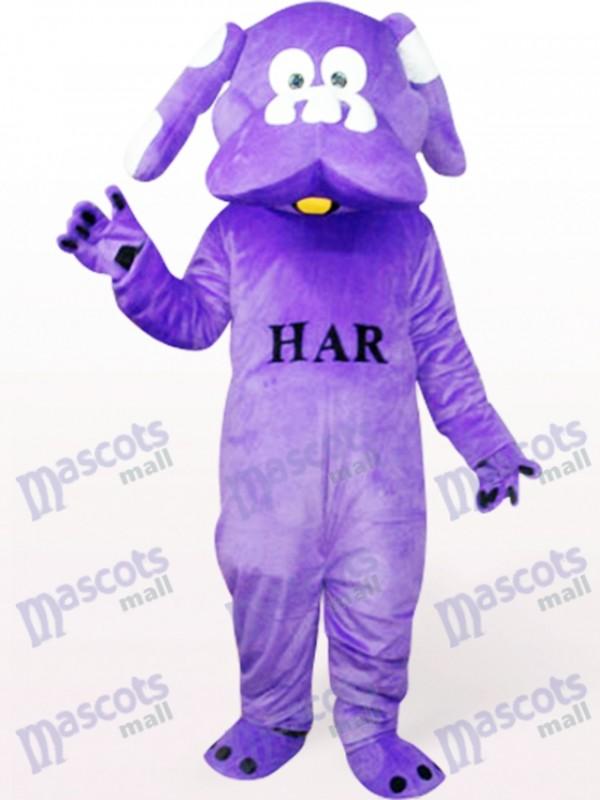Dog In Purple Animal Mascot Costume