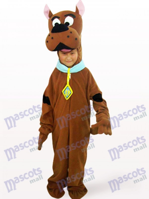 Brown Dog Open Face Kids Animal Mascot Costume