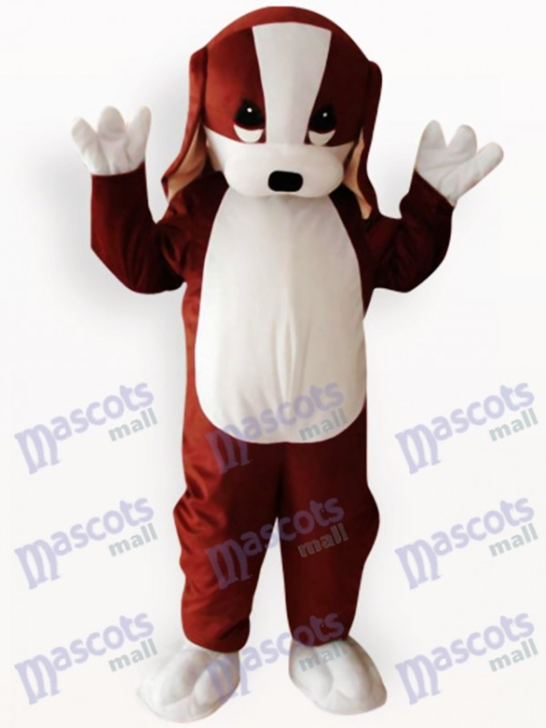 Brown and White Dog Animal Adult Mascot Costume