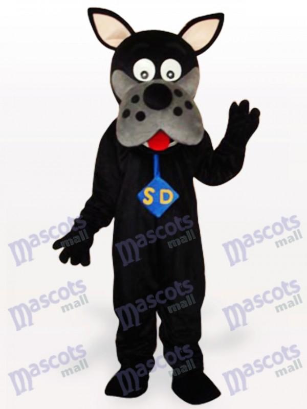 Black Dog Adult Mascot Costume