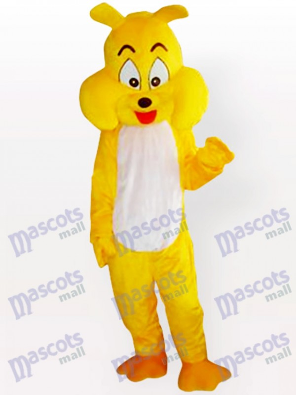 Yellow Dog Adult Mascot Costume