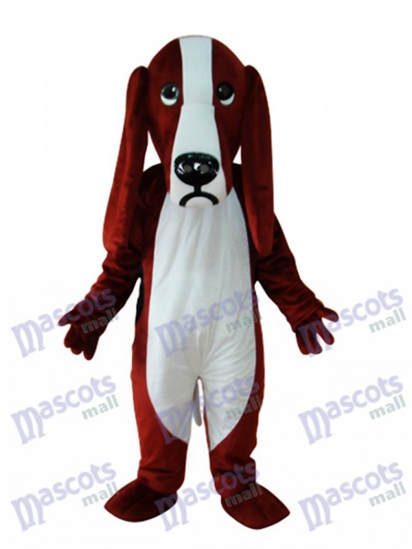 Reddish and White Dog Adult Mascot Costume