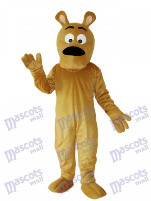 Grey Dog Mascot Adult Costume