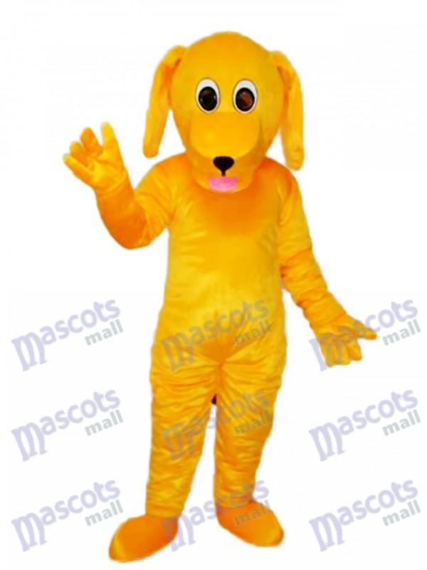 Yellow Dog Mascot Adult Costume