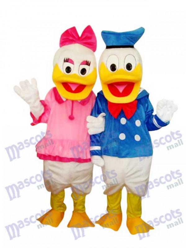 Donald Duck Couple Mascot Adult Costume