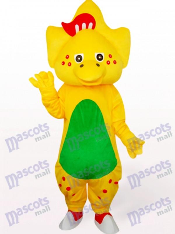 Star Dragon In Yellow Animal Mascot Costume