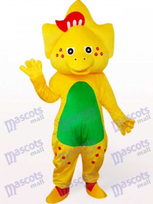 Star Dragon In Yellow Mascot Costume