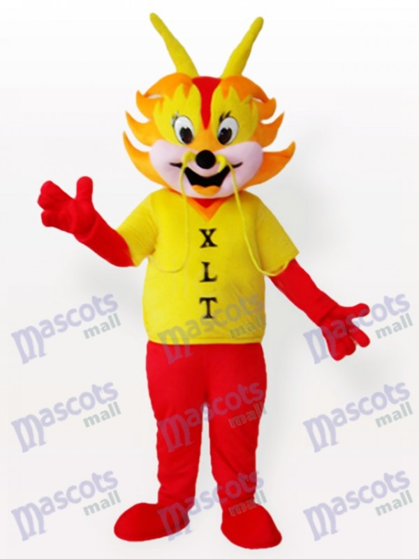 Yellow Dragon Man Adult Mascot Costume