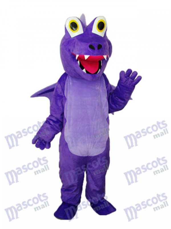 Purple Thorn Dragon Mascot Adult Costume