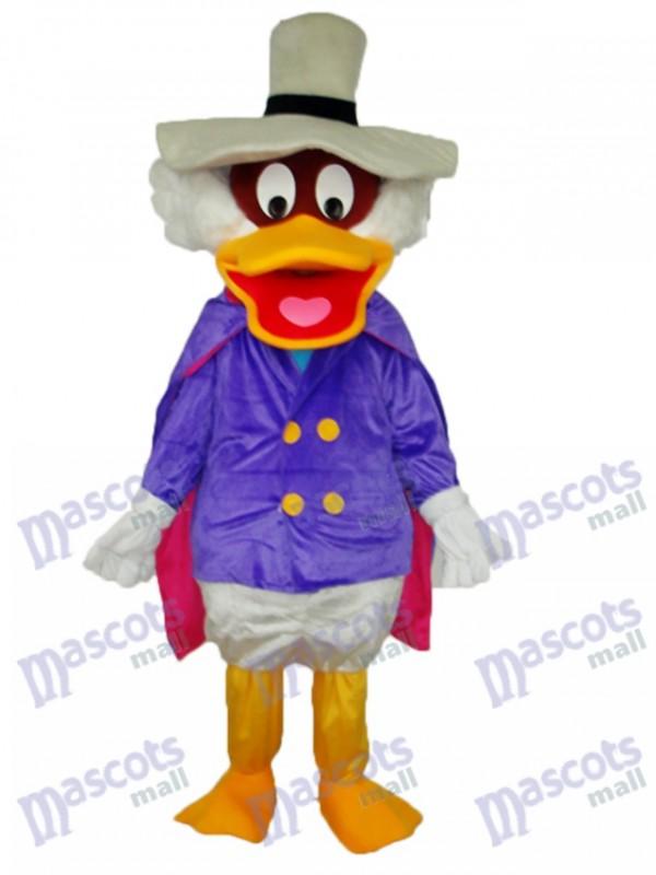 White Hat Duck Mascot Adult Costume Animal