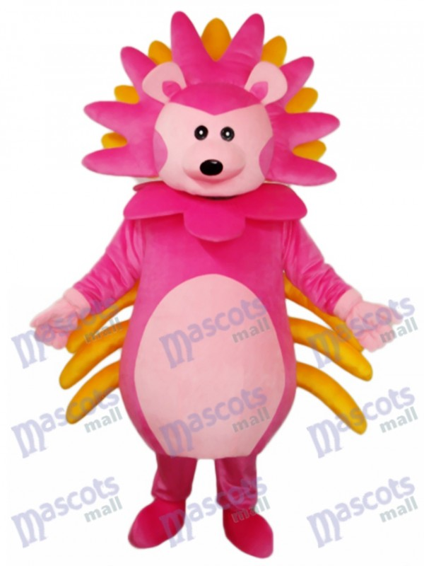 Pink Hedgehog Mascot Adult Costume