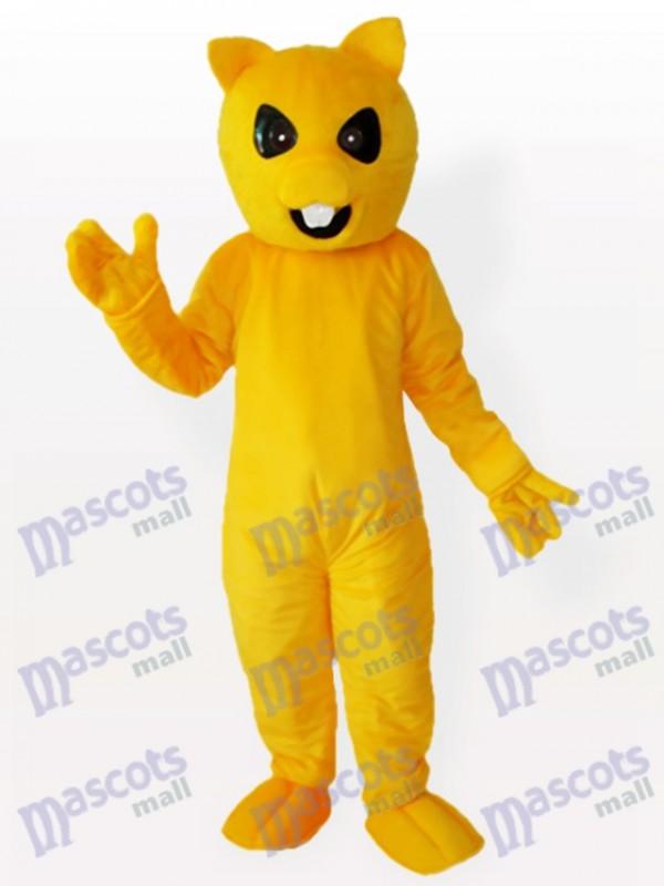 Yellow and White Fox Mascot Animal Costume