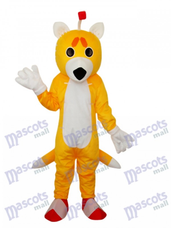 Double Tail Fox Mascot Adult Costume Animal