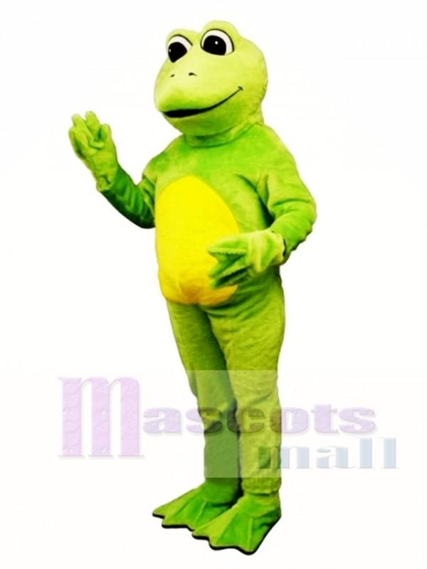 Frosch Beine mit Hut & Overall Maskottchen Kostüm