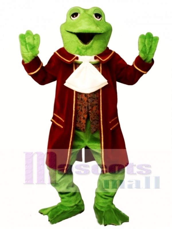 Colonial Frog Mascot Costume